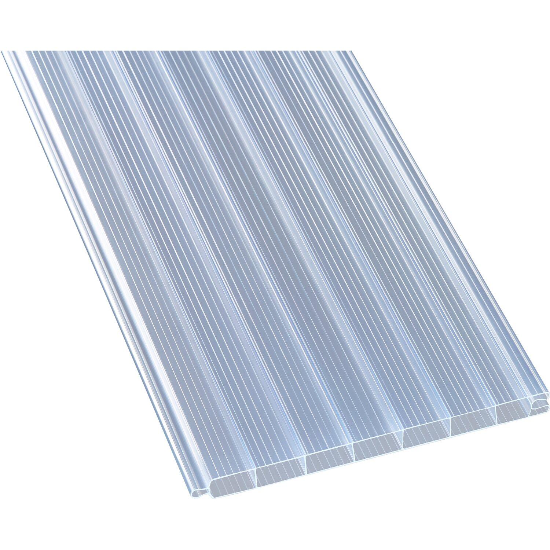pvc hohlkammerpaneele 1 6 cm transparent 250 cm x 20 cm. Black Bedroom Furniture Sets. Home Design Ideas