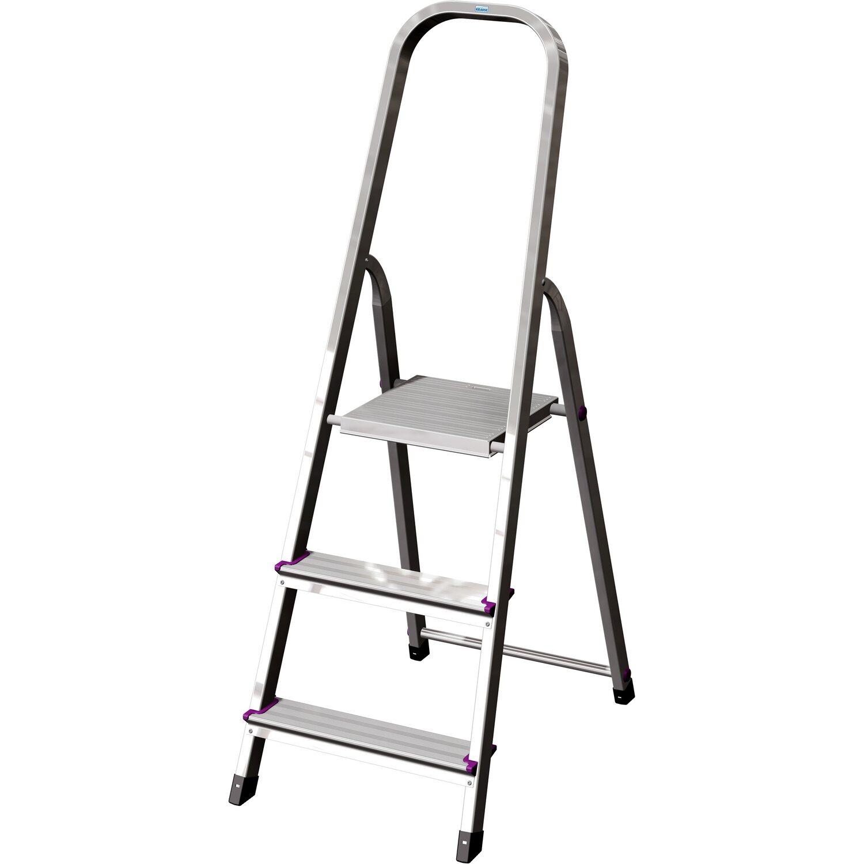 krause corda stufen stehleiter 3 stufen kaufen bei obi. Black Bedroom Furniture Sets. Home Design Ideas