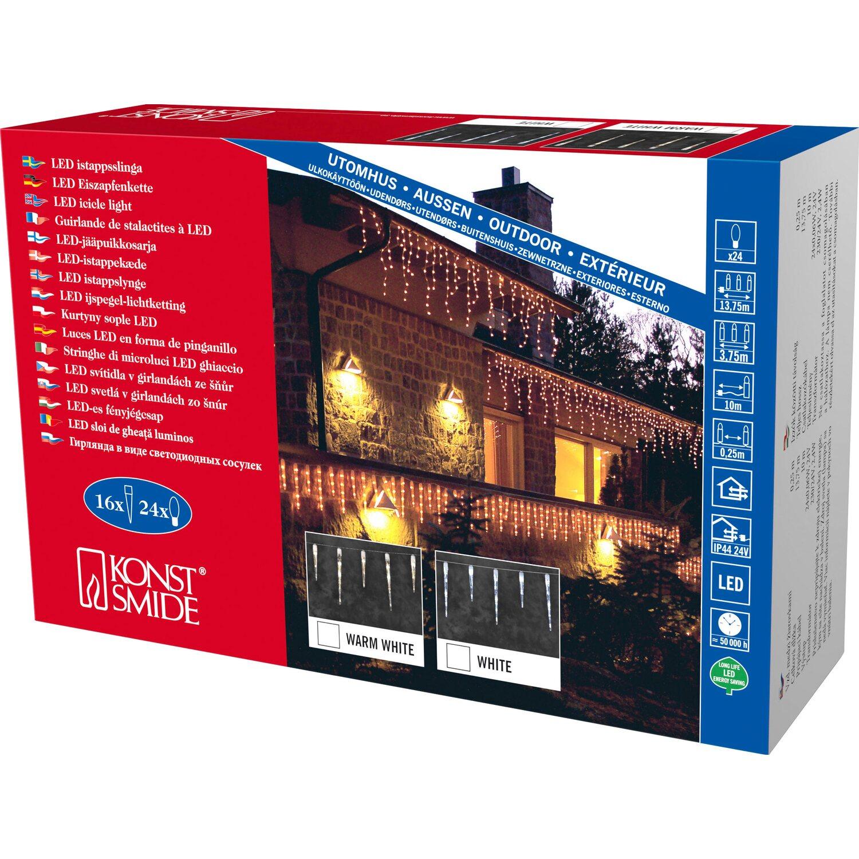 konstsmide led eiszapfen lichtervorhang 16 zapfen 24 led warmwei kaufen bei obi. Black Bedroom Furniture Sets. Home Design Ideas