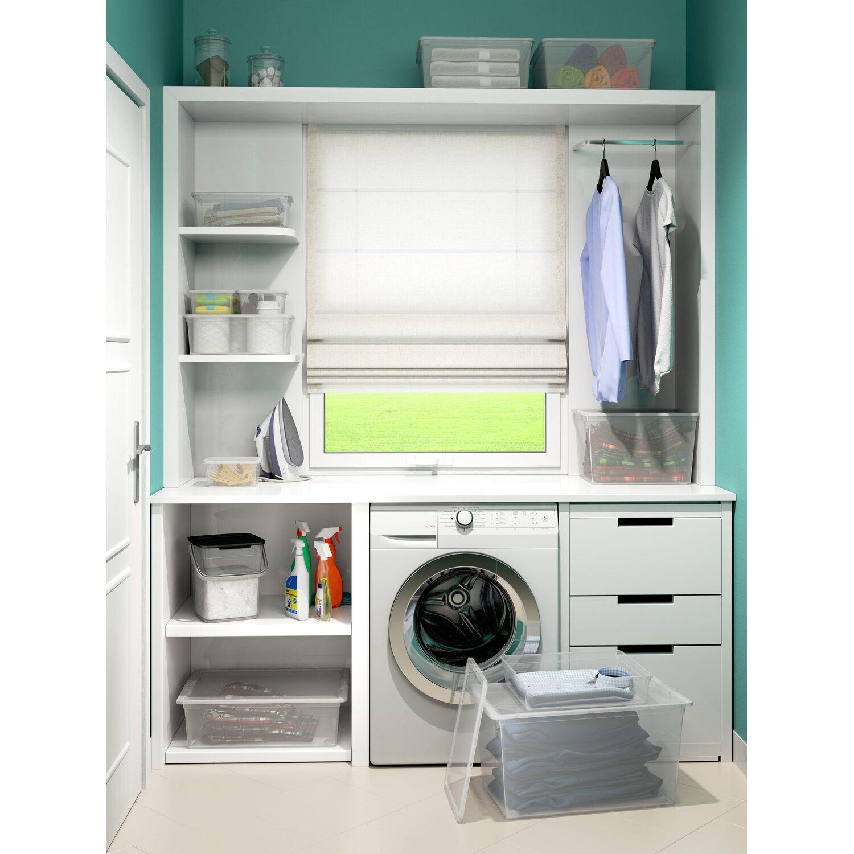 aufbewahrungsbox c xl mit deckel 4 rollen transparent kaufen bei obi. Black Bedroom Furniture Sets. Home Design Ideas