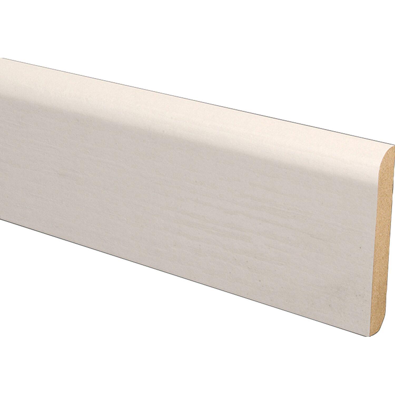 sockelleiste hochglanz wei 60 mm x 10 mm l nge 2600 mm. Black Bedroom Furniture Sets. Home Design Ideas