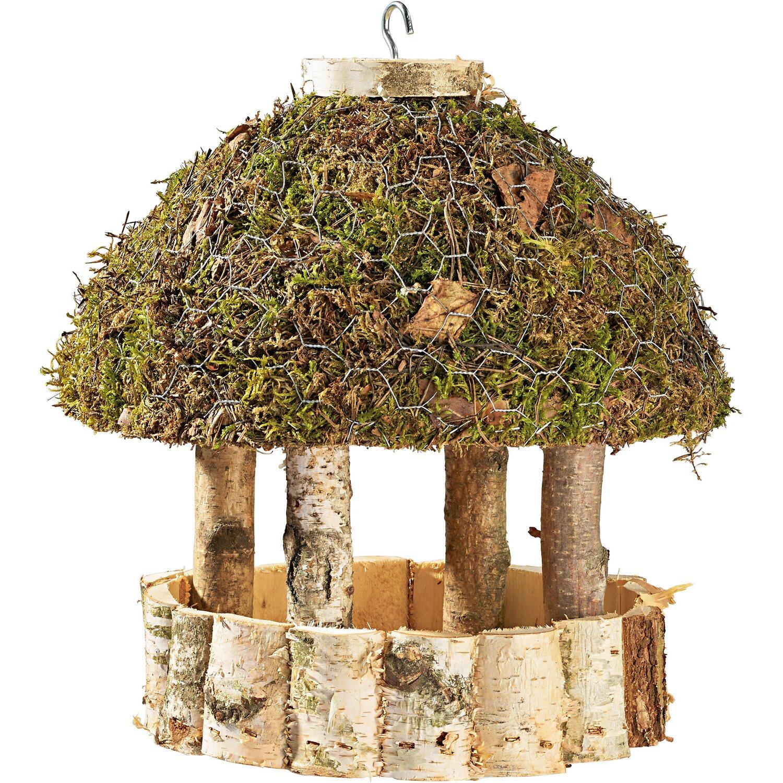 vogelfutterhaus birke mit moosdach rund kaufen bei obi. Black Bedroom Furniture Sets. Home Design Ideas
