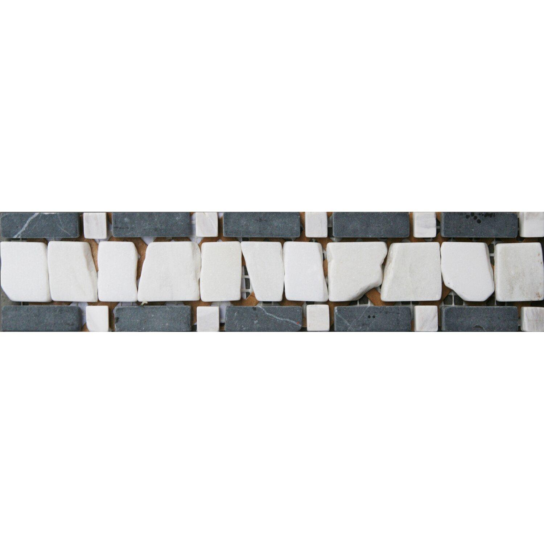 Sonstige Bordüre Venezia Schwarz Grau Weiß 5  cm x 25 cm