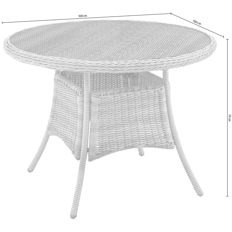 obi rundtisch stratford 100 x 100 cm nature kaufen bei obi. Black Bedroom Furniture Sets. Home Design Ideas