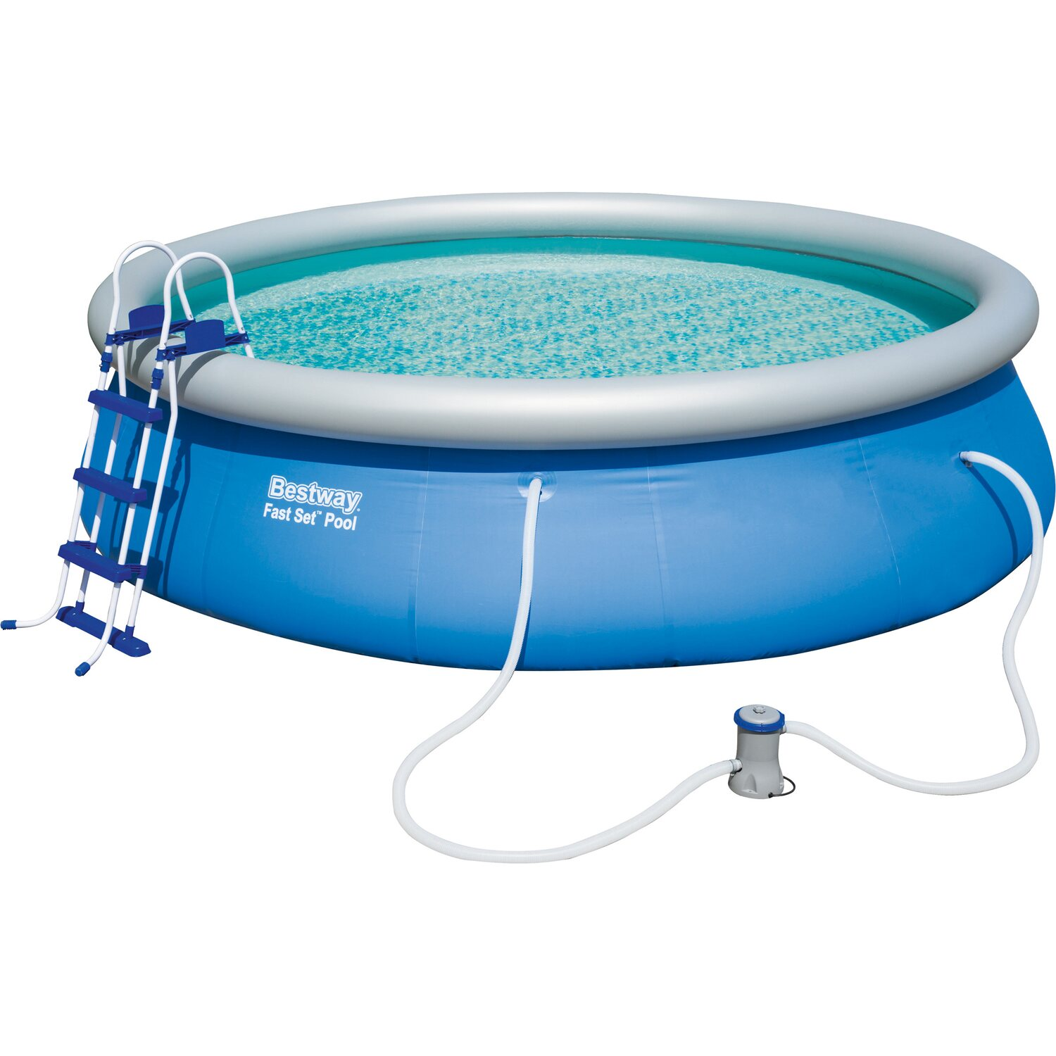 Bestway fast set pool 457 cm x 107 cm kaufen bei obi for Garten pool bestway