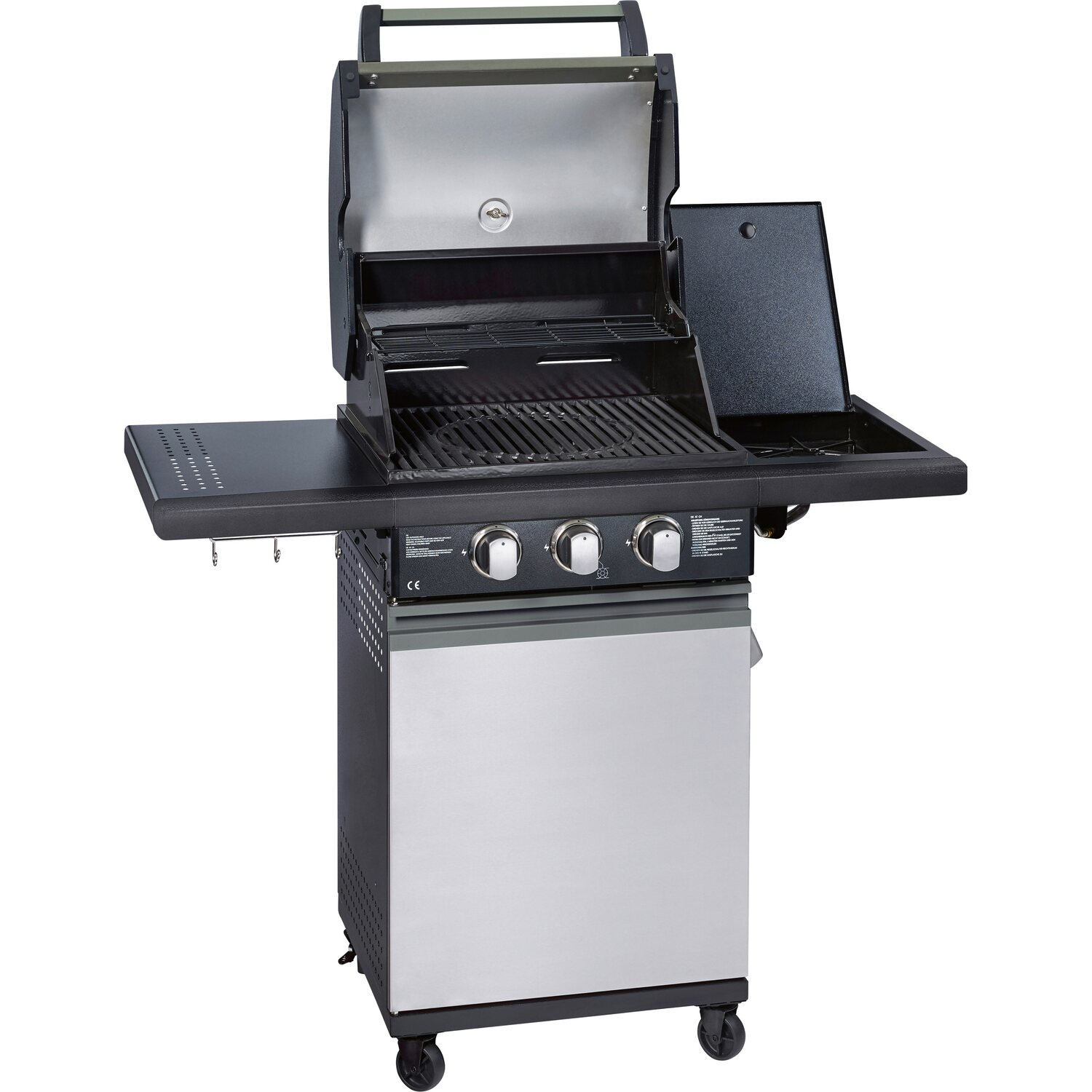 enders bbq gasgrill baltimore gas grill 81496 2 guss brenner stufenlos grillwagen mit. Black Bedroom Furniture Sets. Home Design Ideas