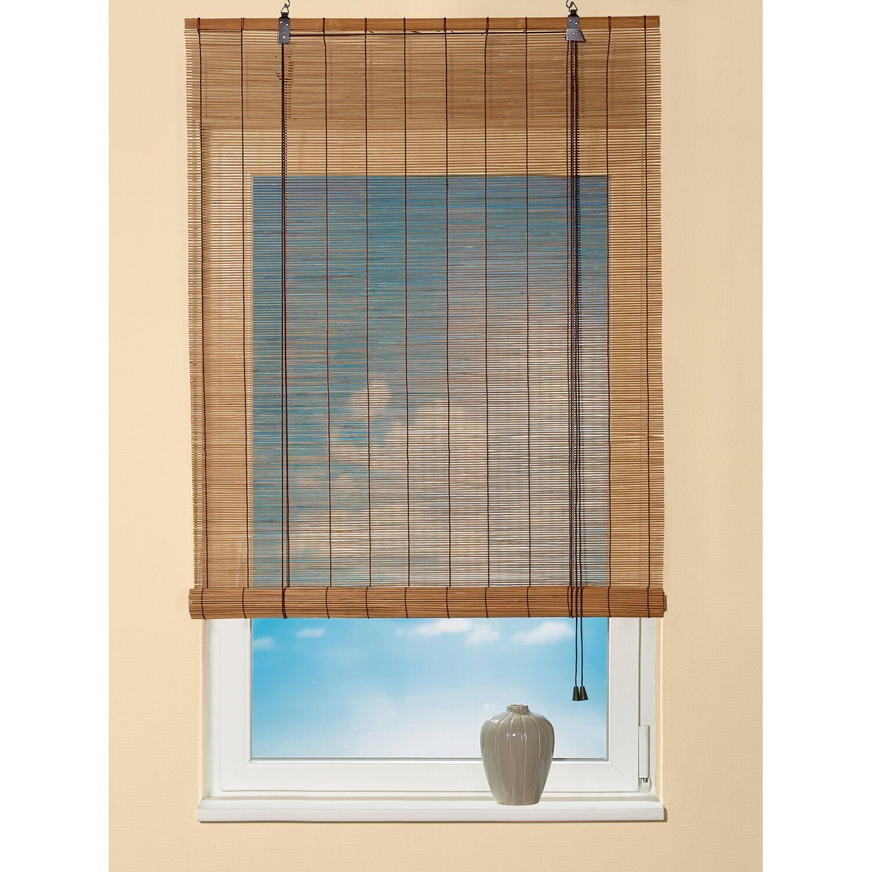 obi bambus raffrollo 80 cm x 160 cm dunkle eiche kaufen bei obi. Black Bedroom Furniture Sets. Home Design Ideas