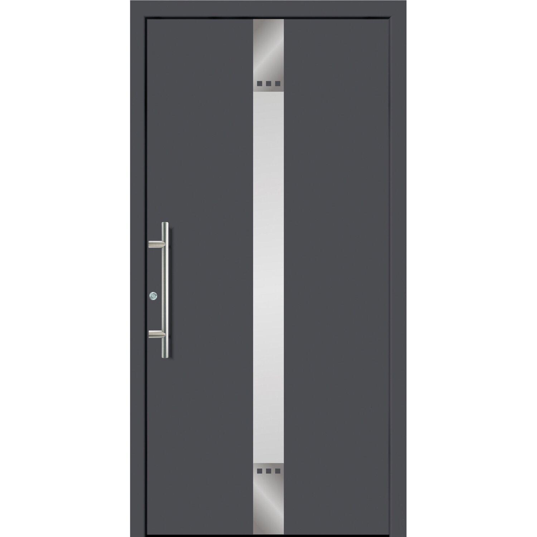 Sonstige Aluminium-Haustür 110 cm x 210 FÜ 55209 cm Anthrazit Anschlag Links