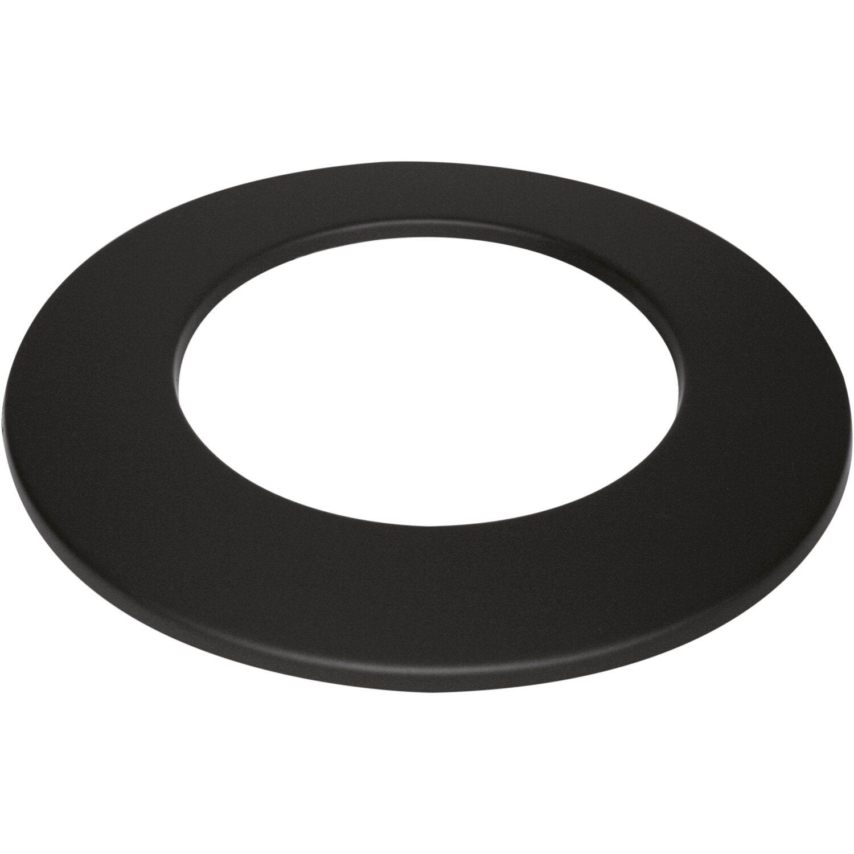 Ofenrohr mit Drosselklappe 100cm x 125mm schwarz emailliert Rauchrohr Kaminrohr