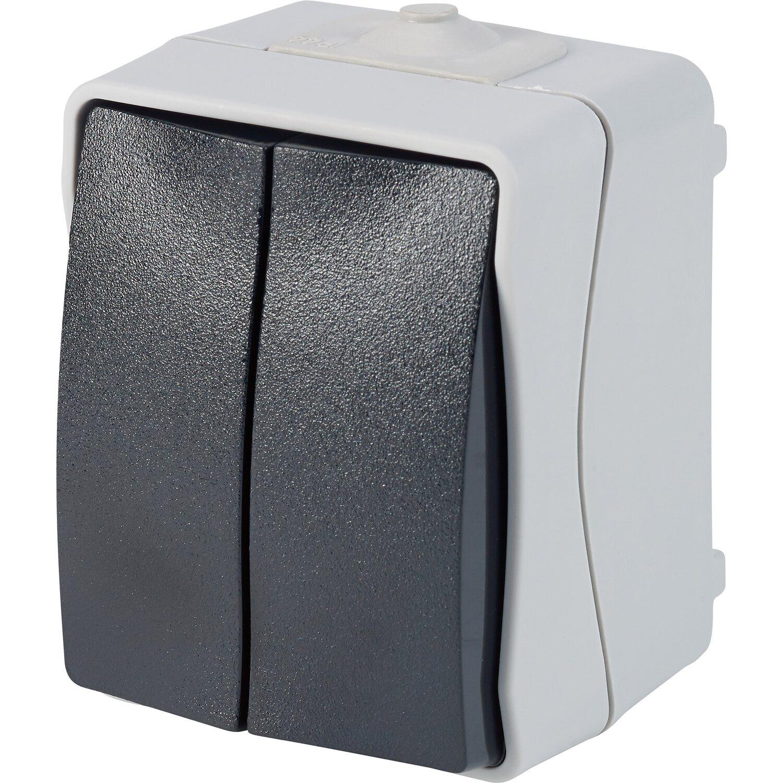 Feuchtraum Serienschalter IP44 Grau