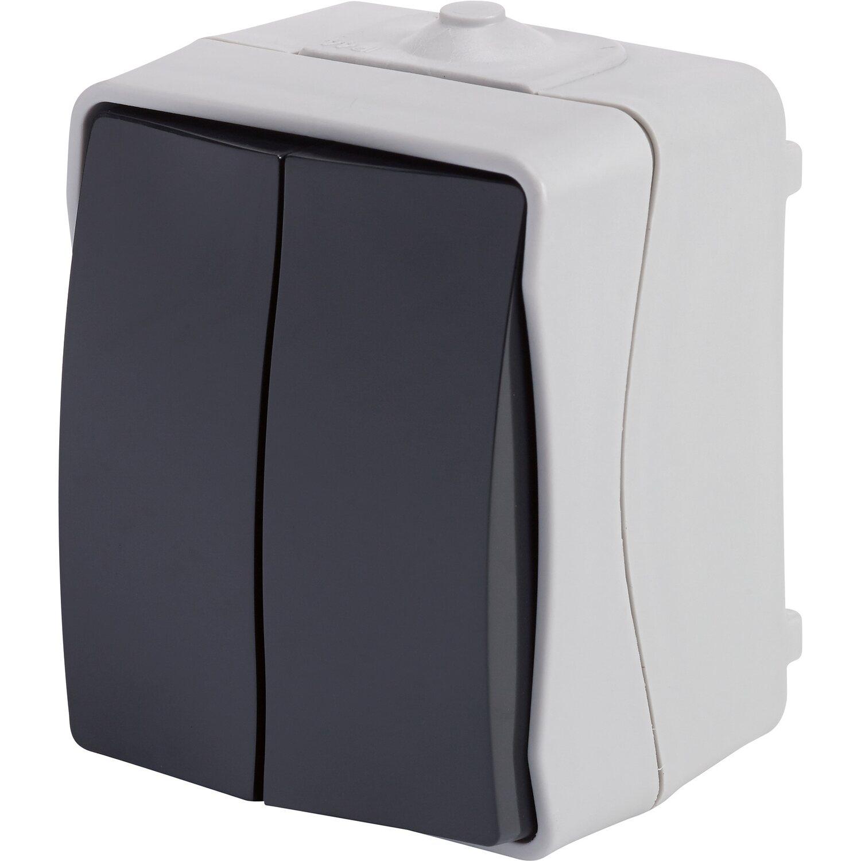 Feuchtraum Serienschalter IP54 Grau