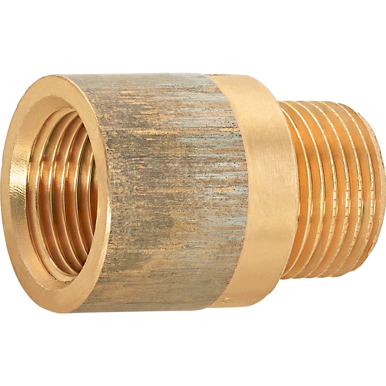 OBI Hahnverlängerung 14,9 mm (Rp 3/8) x 16,7 mm (R 3/8) Rotguss 20 mm
