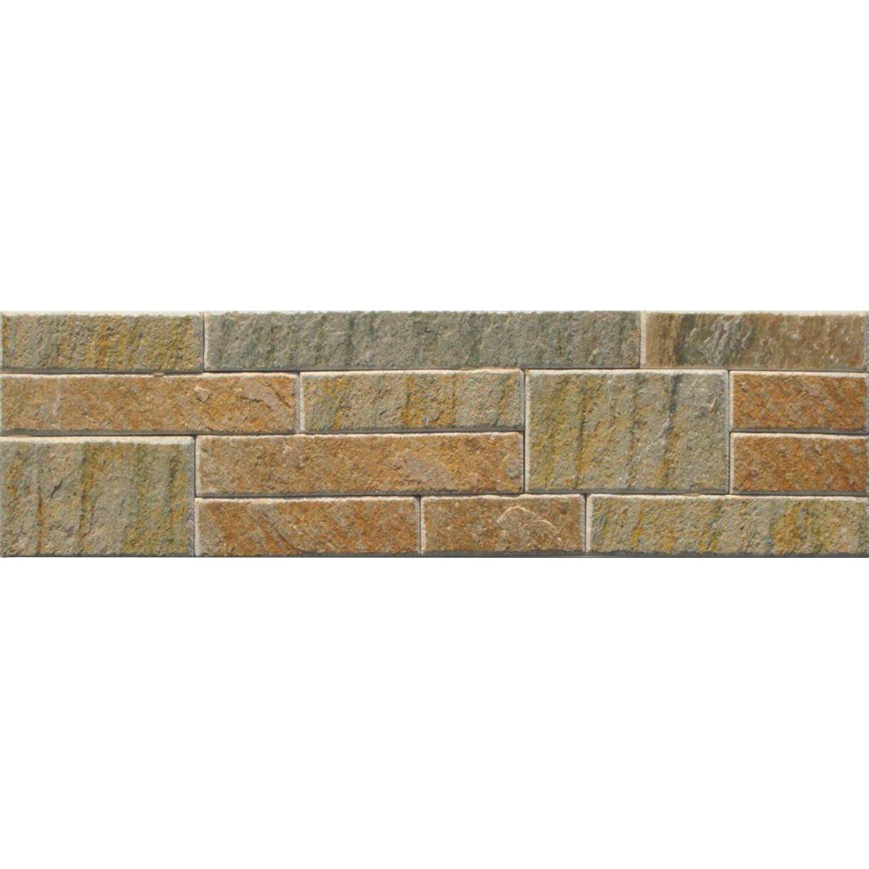 Verblender Quarzit Beige-Bunt 10 cm x 40 cm Block Preisvergleich