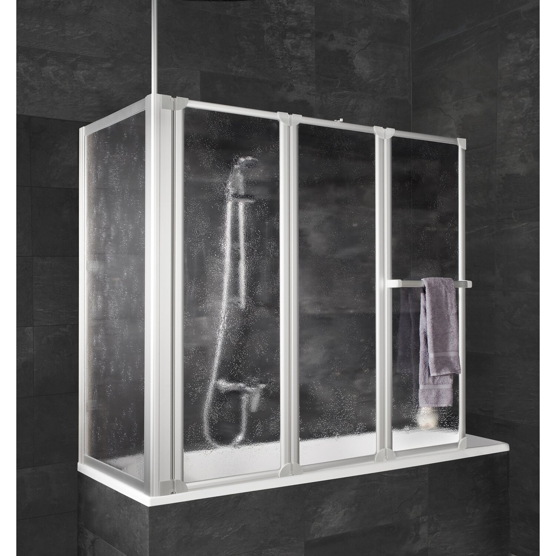 schulte wannenaufsatz mit handtuchhalter und seitenwand 140 cm x 128 8 cm kaufen bei obi. Black Bedroom Furniture Sets. Home Design Ideas