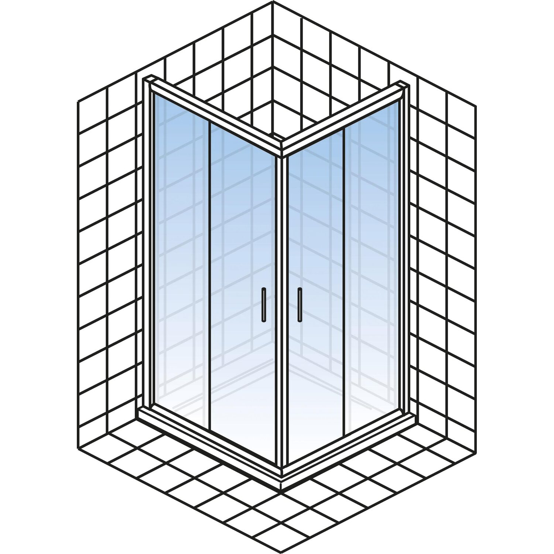 schulte kristall trend eckeinstieg ii 90 cm echtglas chrom optik kaufen bei obi. Black Bedroom Furniture Sets. Home Design Ideas