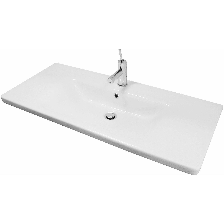 fackelmann waschbecken 100 cm lavella wei kaufen bei obi On waschbecken 100 cm