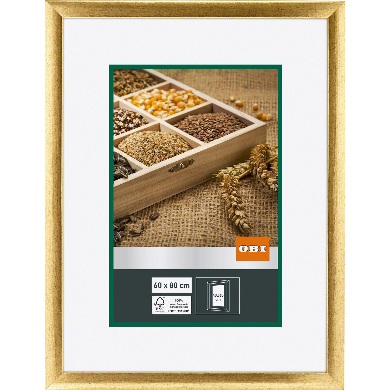 OBI Holz-Bilderrahmen Gold 60 cm x 80 cm kaufen bei OBI
