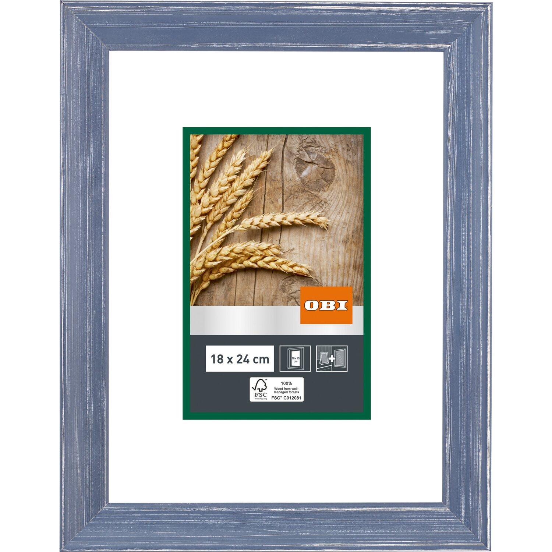 OBI Holz-Bilderrahmen Blau 18 cm x 24 cm kaufen bei OBI