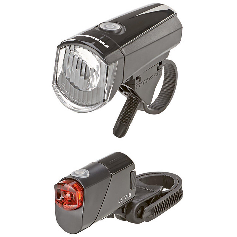 Trelock LED-Batterieleuchten-Set 15 lx