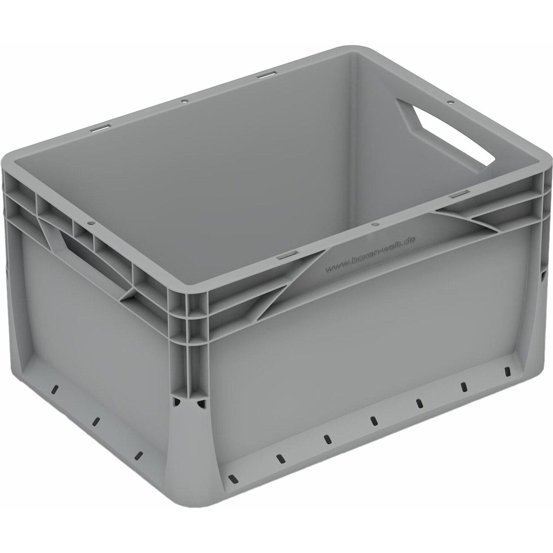 Obi Eurobox System Tauro Box Vollwand 40 X 30 X 22 Cm Grau