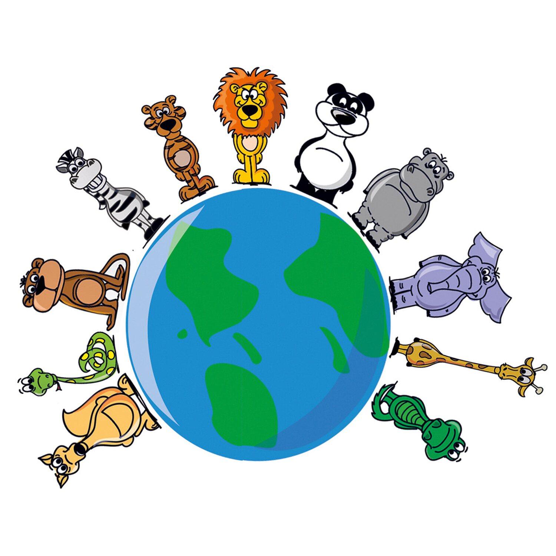 Eurographics  Deco Sticker Animals Around The Earth