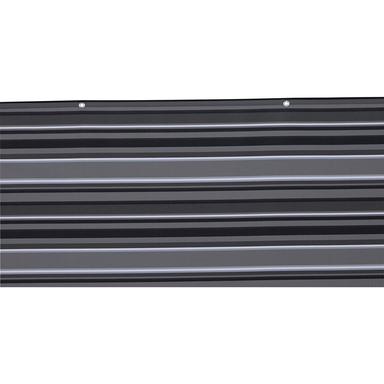 Balkonsichtschutz 90 cm x 500 cm Anthrazit Gestreift kaufen bei OBI