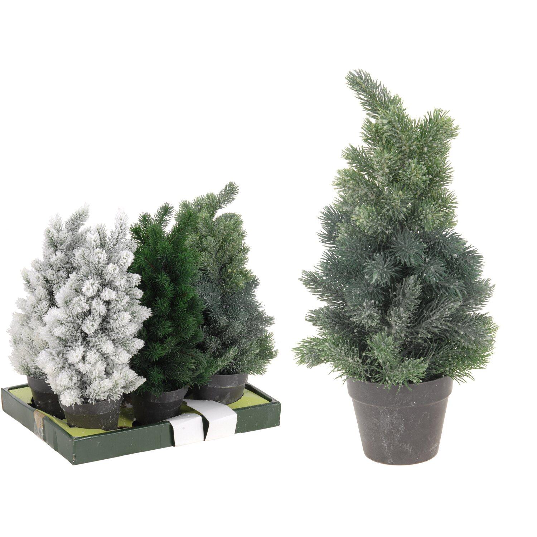 Künstlicher Tannenbaum Im Topf.Künstlicher Weihnachtsbaum Im Topf 38 Cm 3fach Sortiert Kaufen Bei Obi