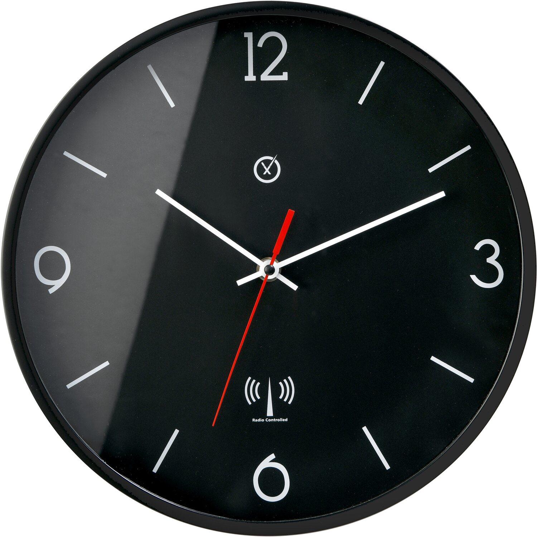 Sompex Clocks Wanduhr Melbourne Schwarz