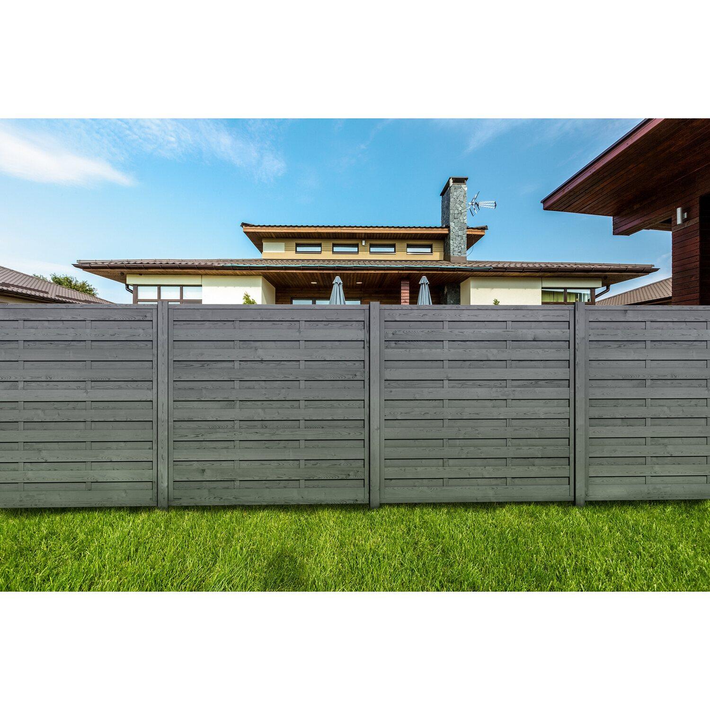 Sichtschutzzaun Element Anthrazit Gebeizt 180 Cm X 180 Cm Kaufen