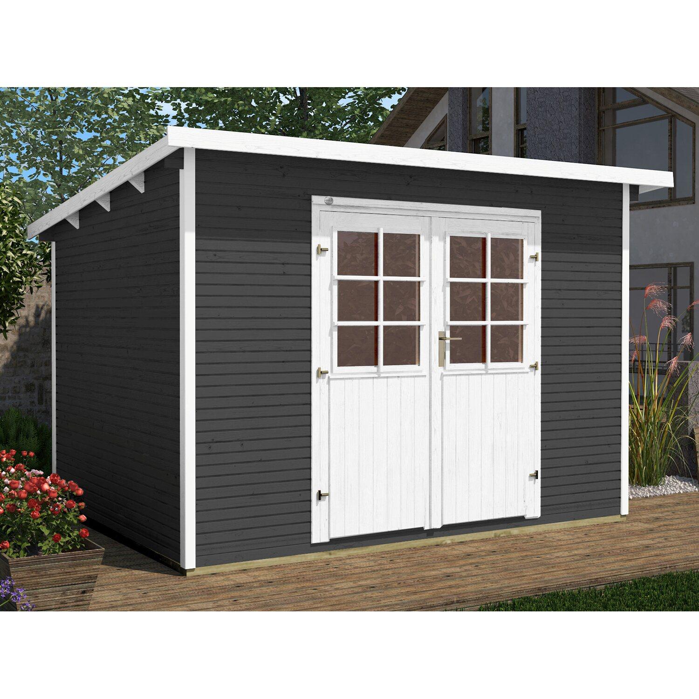 Weka Holz Gartenhaus Salo Gr 3 Anthrazit Bxt 319 Cm X 334 Cm Kaufen Bei Obi