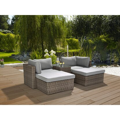 obi gartenm bel set olea ii polyrattan anthrazit grau 5 teilig kaufen bei obi. Black Bedroom Furniture Sets. Home Design Ideas