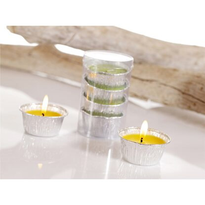 Citronella Kerze in Aluschale 4er-Pack