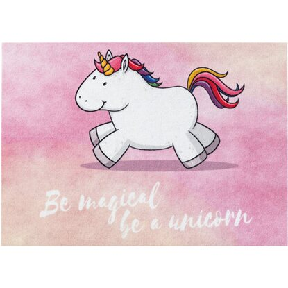 Astra Sauberlaufmatte Happy Home 50 x 70 cm Einhorn magical rosa