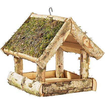 vogelfutterhaus birke mit moosdach klein kaufen bei obi. Black Bedroom Furniture Sets. Home Design Ideas