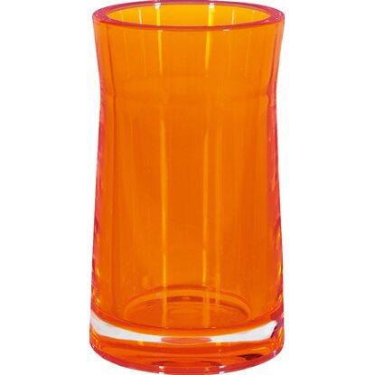 Spirella Zahnbecher Sydney-Acryl Clear-Orange