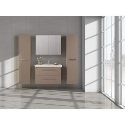 Scanbad badm bel set 95 cm mit spiegelschrank lotto vanilla grey 3 teilig kaufen bei obi - Scanbad spiegelschrank ...