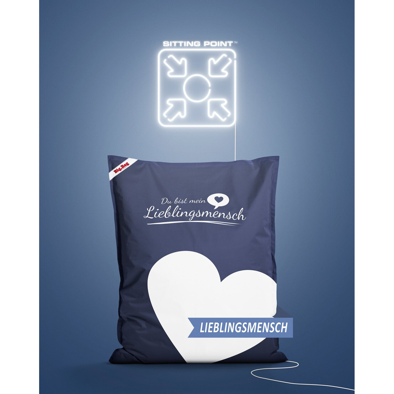sitting point jumbo sitzsack bigbag lieblingsmensch 380 l jeansblau kaufen bei obi. Black Bedroom Furniture Sets. Home Design Ideas