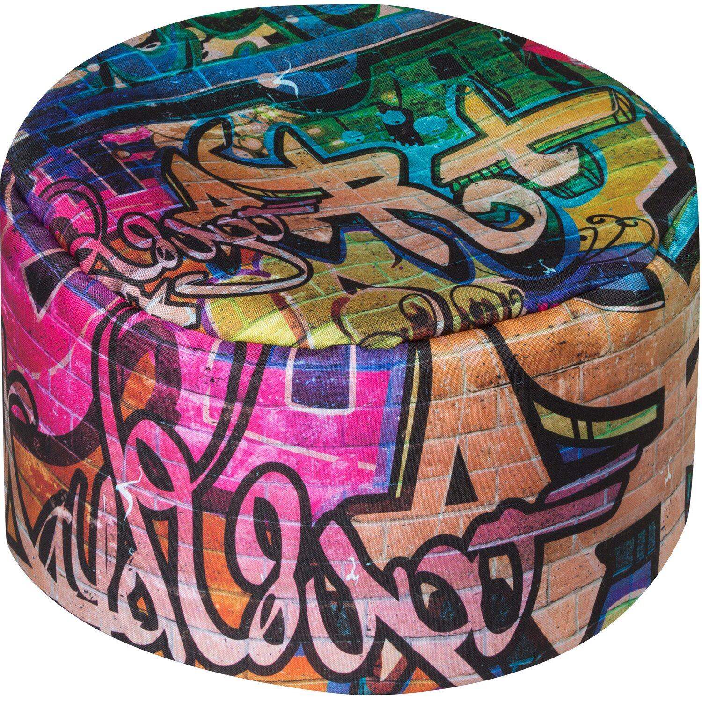 Sitting Point Sitzhocker DotCom Graffiti 60 l Bunt