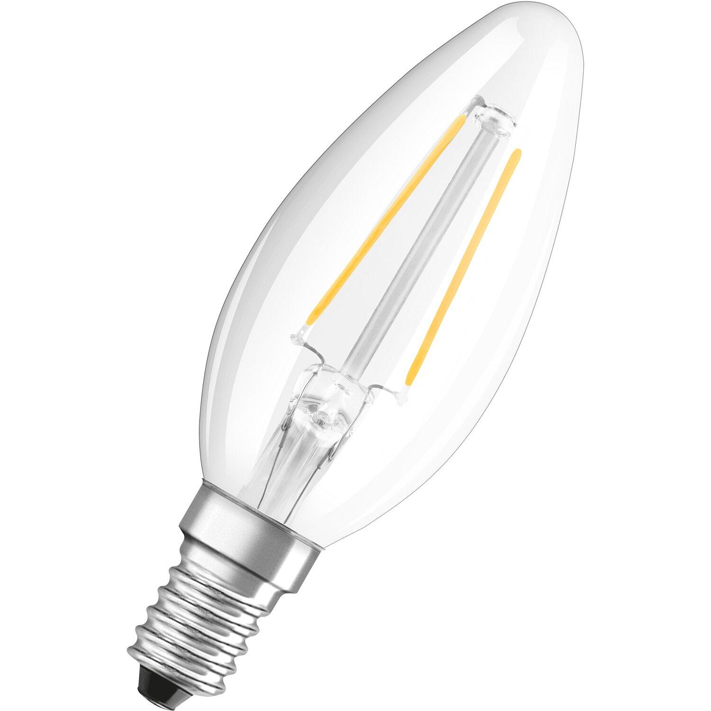 Osram E14 1,2W 827 LED-Kerzenlampe Retrofit klar