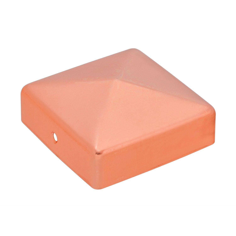 Pfostenkappe quadratisch kupfer zaponiert 71 mm x 71 mm - Obi holzpfosten ...