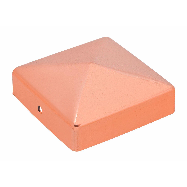 Pfostenkappe quadratisch kupfer zaponiert 91 mm x 91 mm - Obi holzpfosten ...