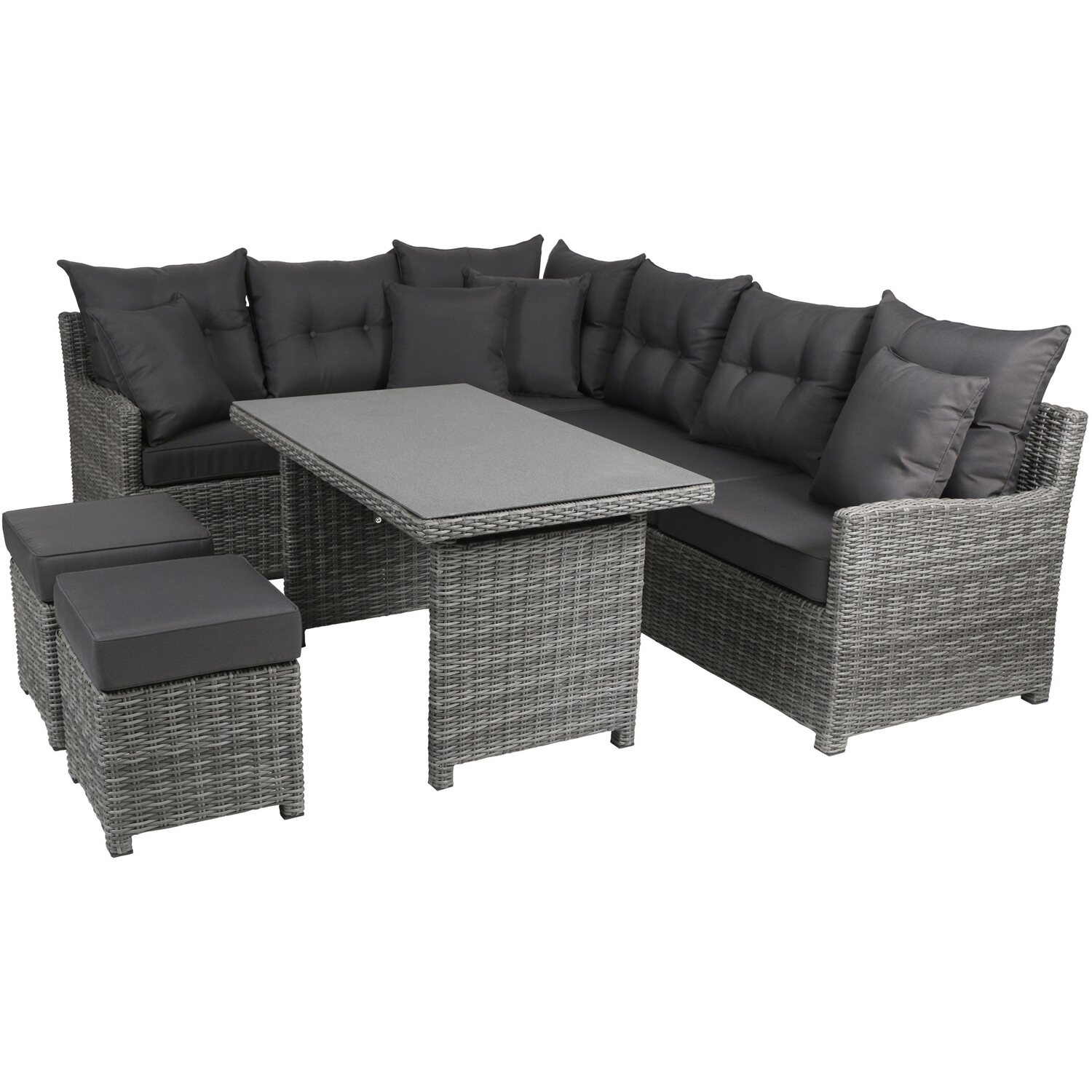 gartenm bel set rattan obi. Black Bedroom Furniture Sets. Home Design Ideas