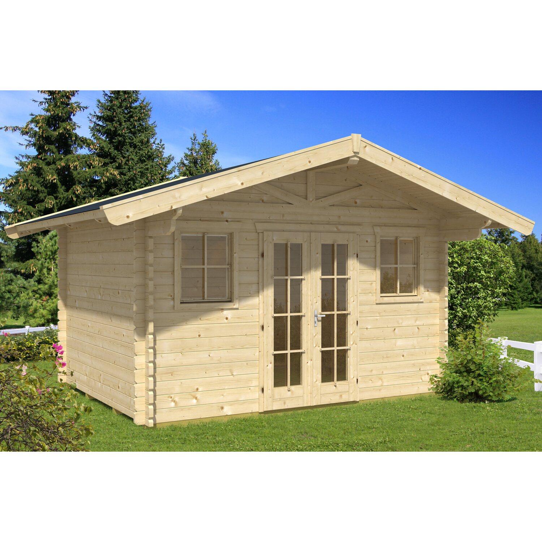 Skanholz Skan Holz-Gartenhaus Davos 1 Natur 380 cm x 300 cm