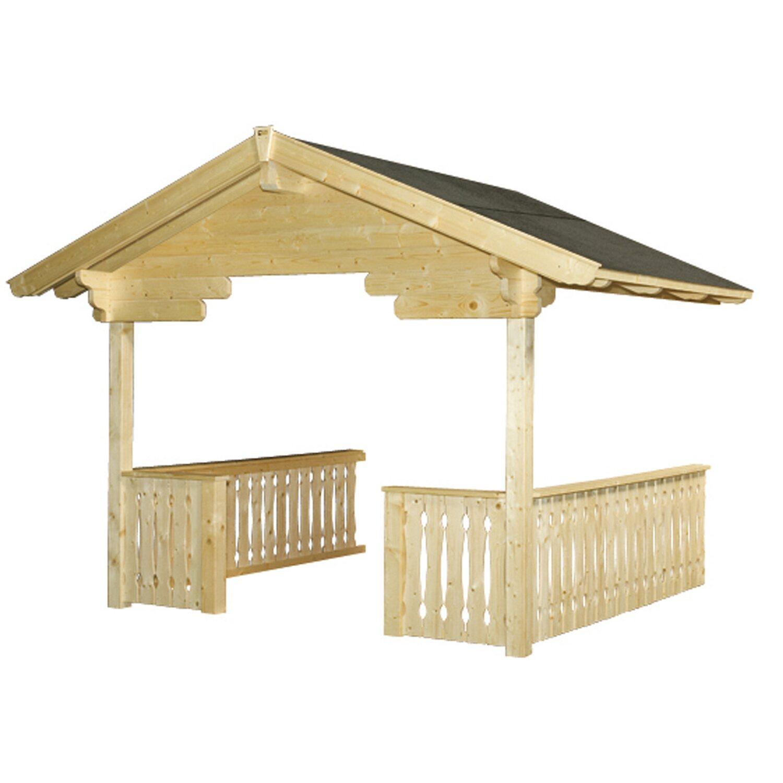 skan holz vordach mit brüstung für davos 380 cm x 300 cm kaufen bei obi
