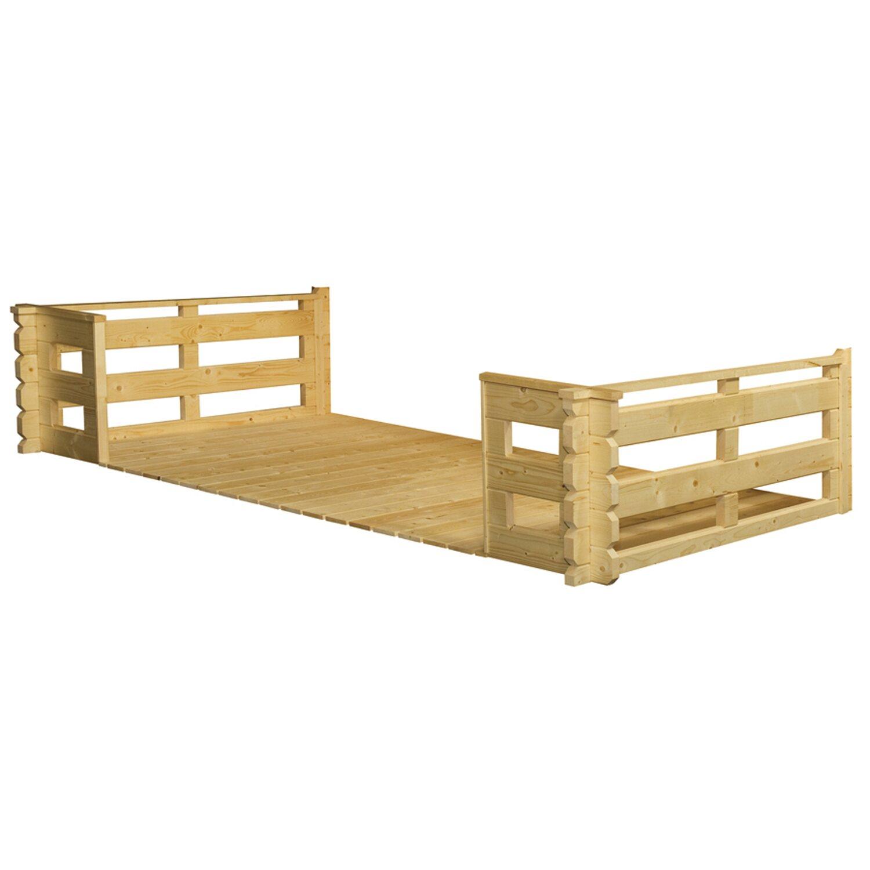 Skanholz Terrasse 380 cm x 200 cm für Gartenhaus 45 mm