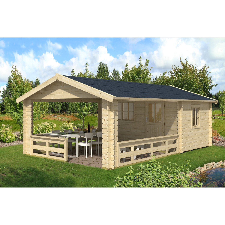 skan holz gartenhaus alicante 2 natur b x t 380 x 563 cm. Black Bedroom Furniture Sets. Home Design Ideas