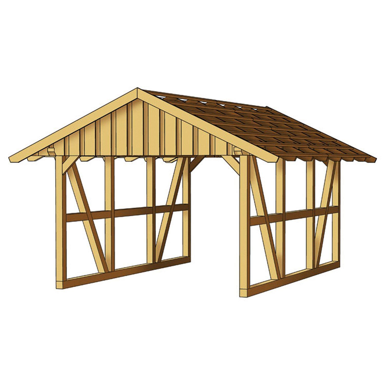 fachwerk einzelcarport schwarzwald 424 cm x 600 cm kaufen bei obi. Black Bedroom Furniture Sets. Home Design Ideas