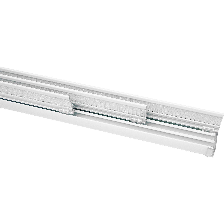 Gardinia Flächenvorhangschiene Komplett-Set Silber 160 cm