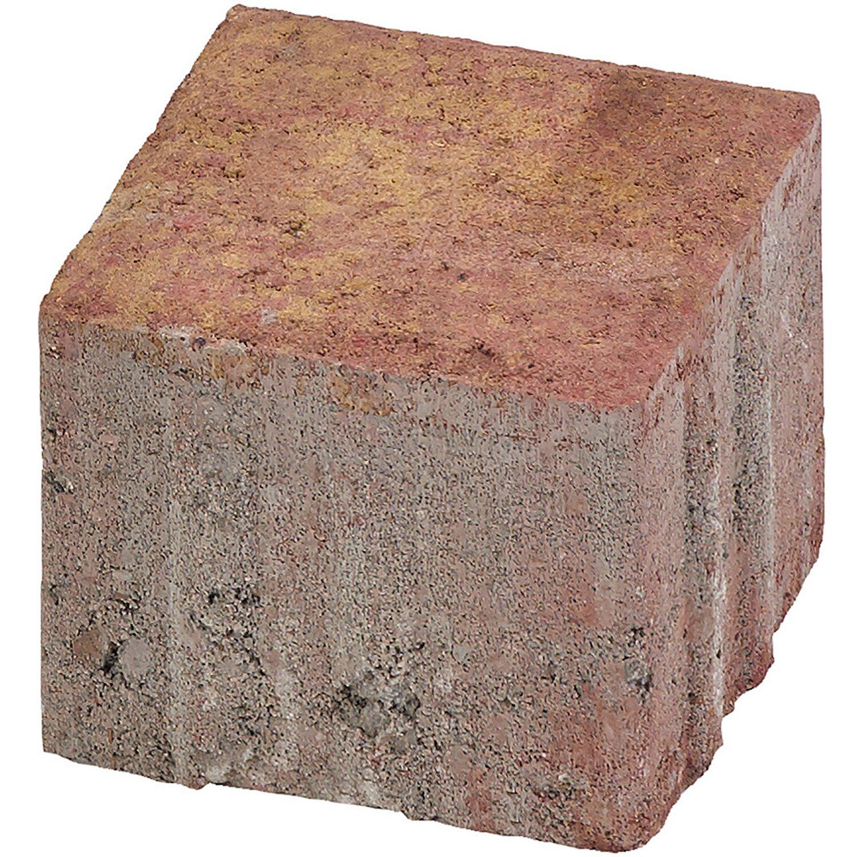 Quadrat-Pflaster Beton Herbstbunt 10 cm x 10 cm x 8 cm