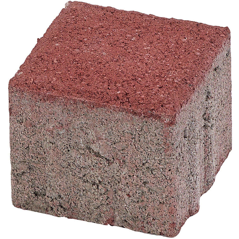 Quadrat-Pflaster Beton Rot 10 cm x 10 cm x 8 cm